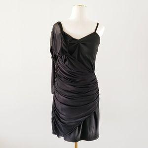 New ZARA Medium Black One Sleeve Cocktail Dress